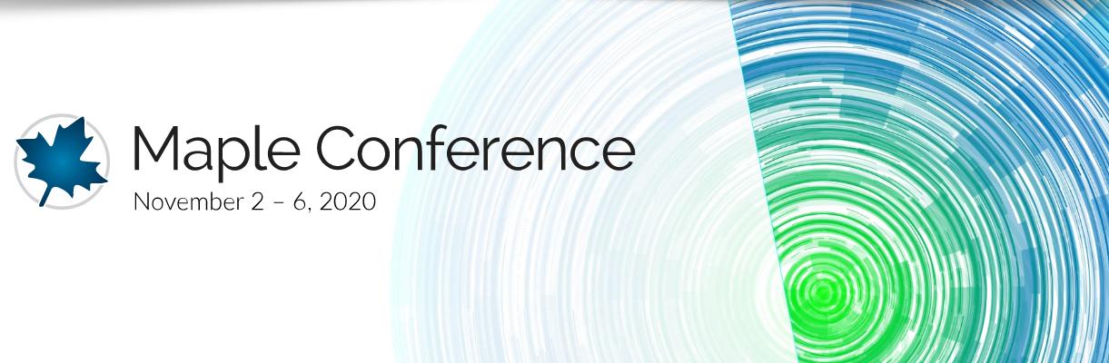 Registro abierto y GRATUITO para la Maple Conference 2020