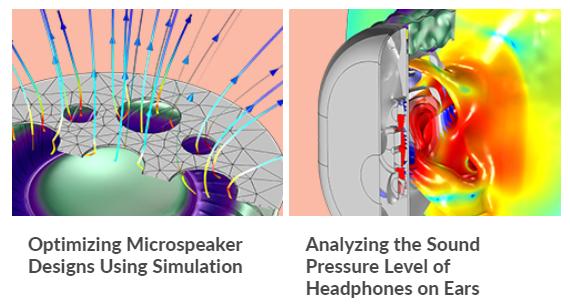 Simulación de dispositivos de audio con COMSOL: auriculares y microaltavoces