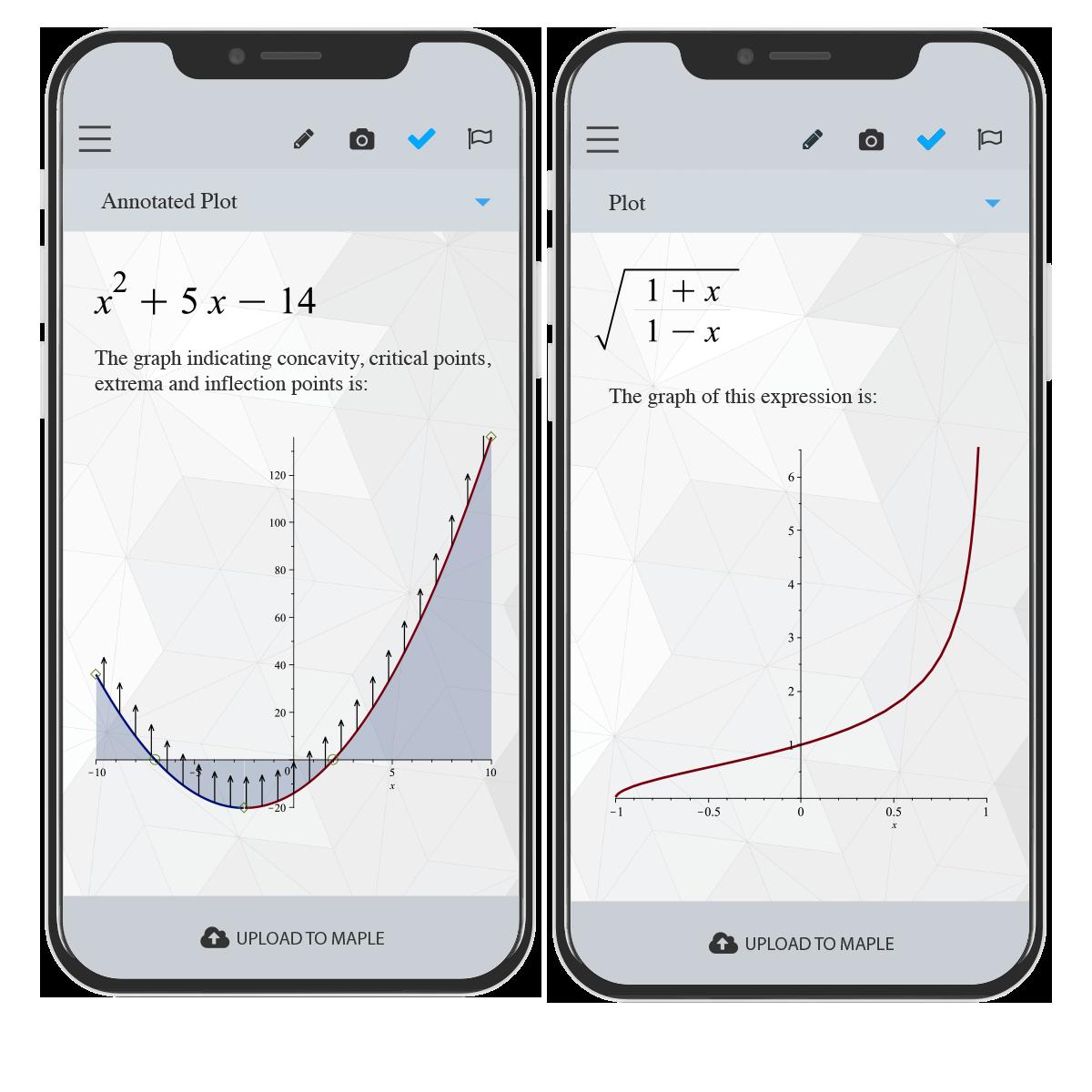 ¡Comprueba tus ejercicios de matemáticas utilizando tu móvil!