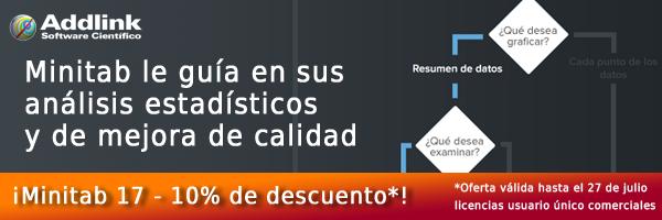 Minitab para análisis estadísticos y de mejora de calidad - Promocion julio 2015
