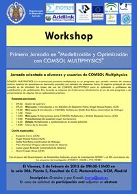 Primera Jornada en Modelización y Optimización con COMSOL Multiphysics