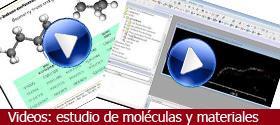 Vídeos: estudio de moléculas y materiales