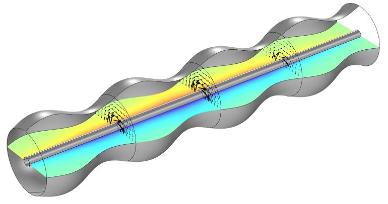 Cálculo de la impedancia de una guía de onda corrugada con COMSOL