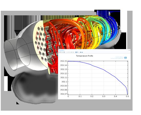 Transferencia conjugada de calor: Un ventilador y una parrilla perforada inducen un flujo de aire en el recinto de una fuente de alimentación del ordenador para disminuir el calentamiento interno.