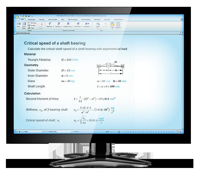 Tratamiento de unidades en los cálculos con PTC Mathcad