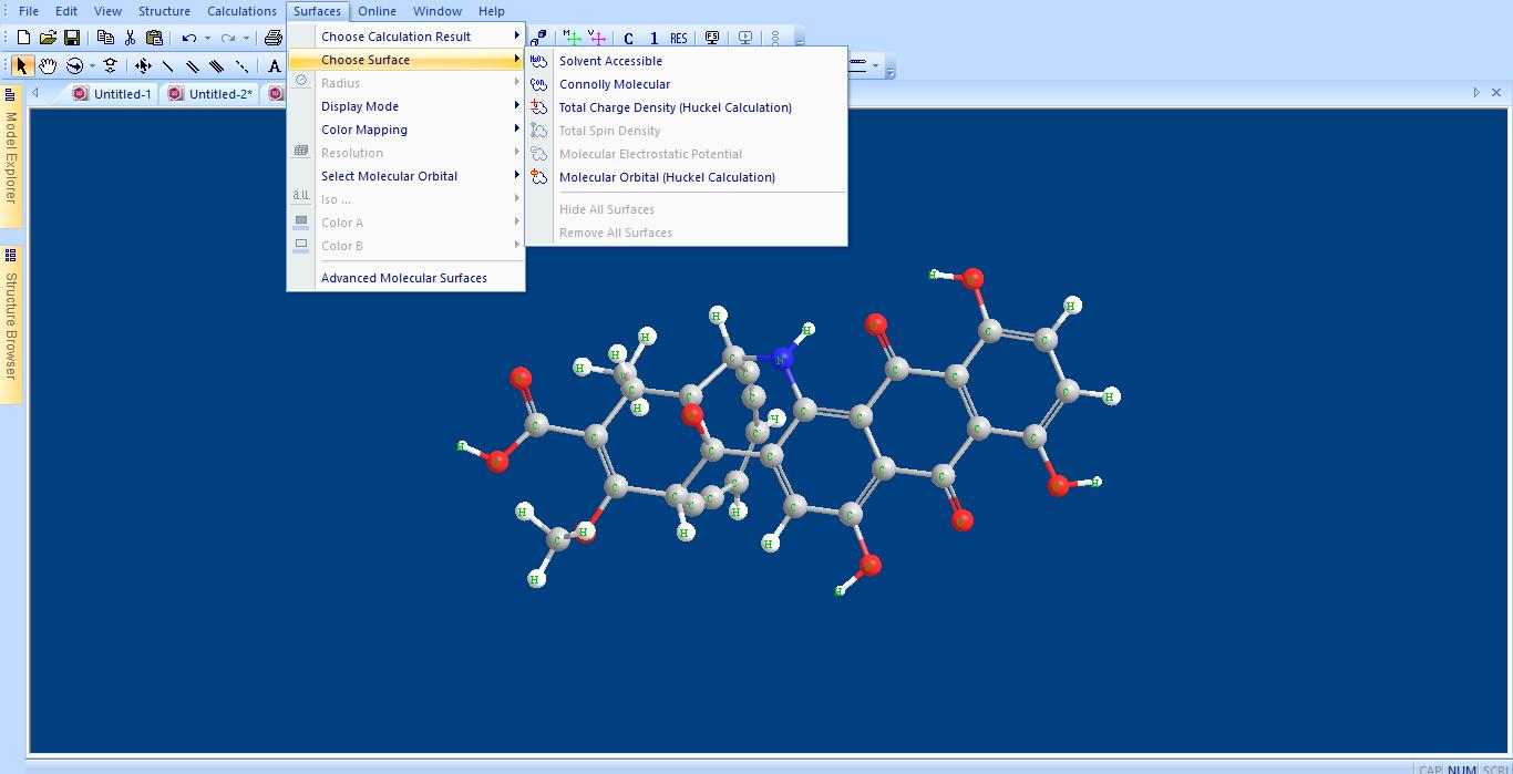 Chem3D junto interfaz GAMESS