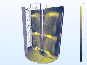 Modelo realizado con COMSOL Multiphysics