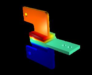 Imagen cortesía de COMSOL, realizada utilizando COMSOL Multiphysics®