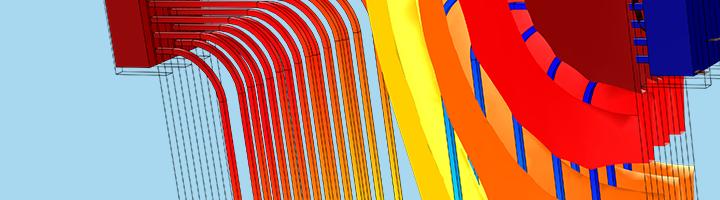 Imagen cortesía de COMSOL y realizada utilizando COMSOL Multiphysics®
