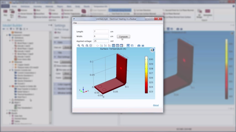 Model generated with COMSOL Multiphysics