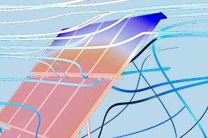 Modelado del flujo alrededor de un panel solar con COMSOL Multiphysics