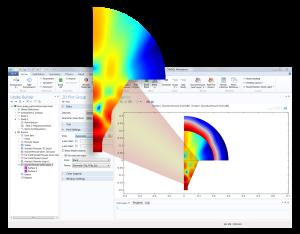 Optimización de una antena de bocina. Imagen cortesía de COMSOL, realizada utilizando COMSOL Multiphysics®