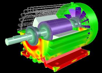 Motor de inducción modelado con los módulos AC/DC y de Dinámica Multicuerpo de COMSOL Multiphysics