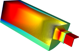 Modelo de interacción fluido-estructura en la extrusión de aluminio realizado con COMSOL Multiphysics