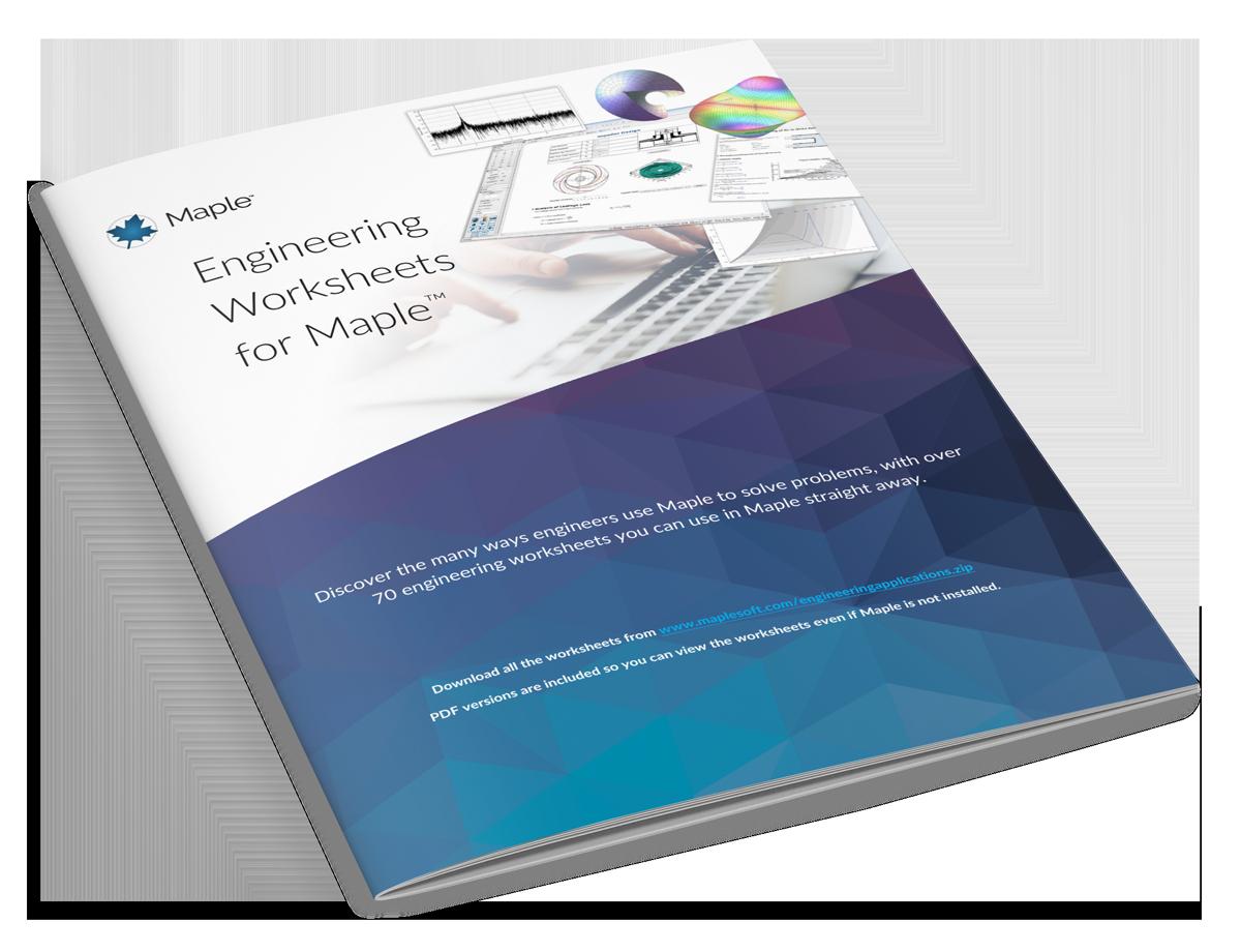 Libro electrónico gratuito: Hojas de trabajo de ingeniería para Maple