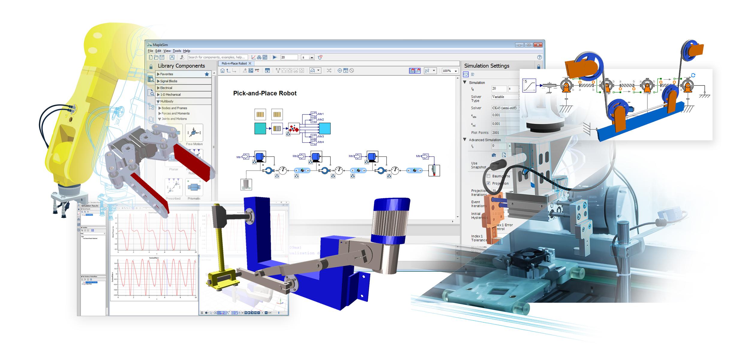 Las nuevas soluciones llave en mano de Maplesoft brindan soluciones de puesta en servicio virtual de servicio completo a los fabricantes de máquinas
