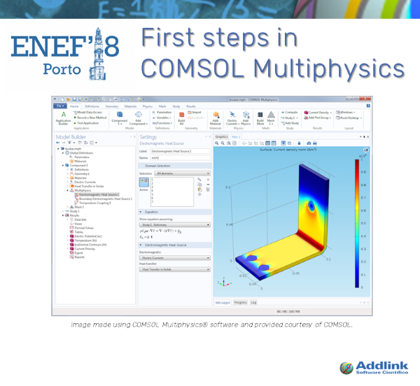 First steps in COMSOL Multiphysics (with COMSOL Multiphysics 5.3a)