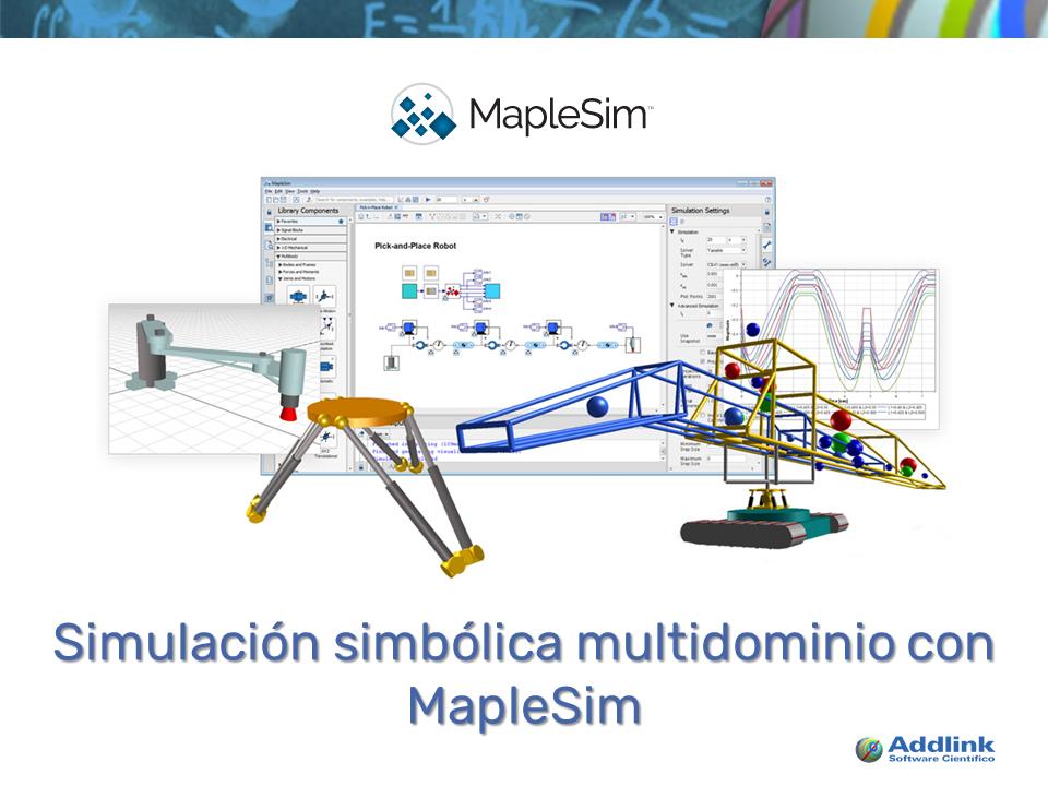 Simulación simbólica multidominio con MapleSim (con MapleSim 2017)