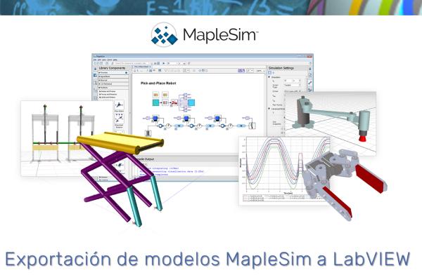 Exportación de modelos de MapleSim a LabVIEW (con MapleSim 2017)