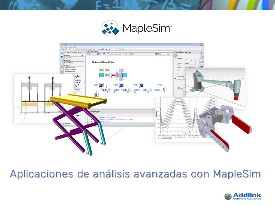 Aplicaciones de análisis avanzadas con MapleSim (con MapleSim 2017)