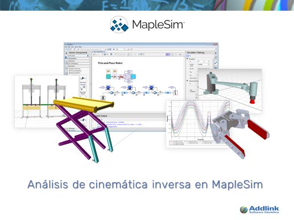 Análisis de cinemática inversa en MapleSim (con MapleSim 2017)